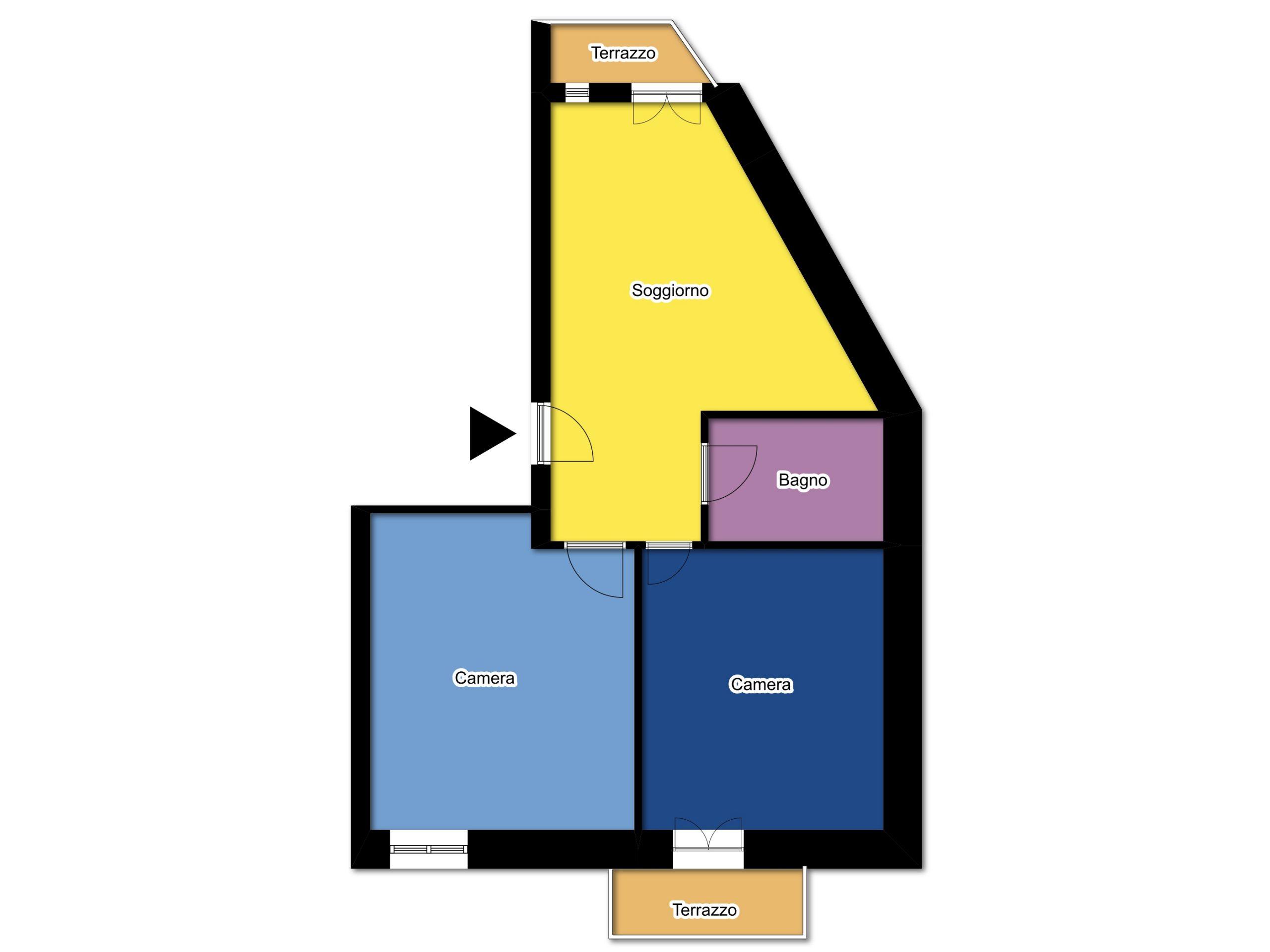Planimetria appartamento tipo 4