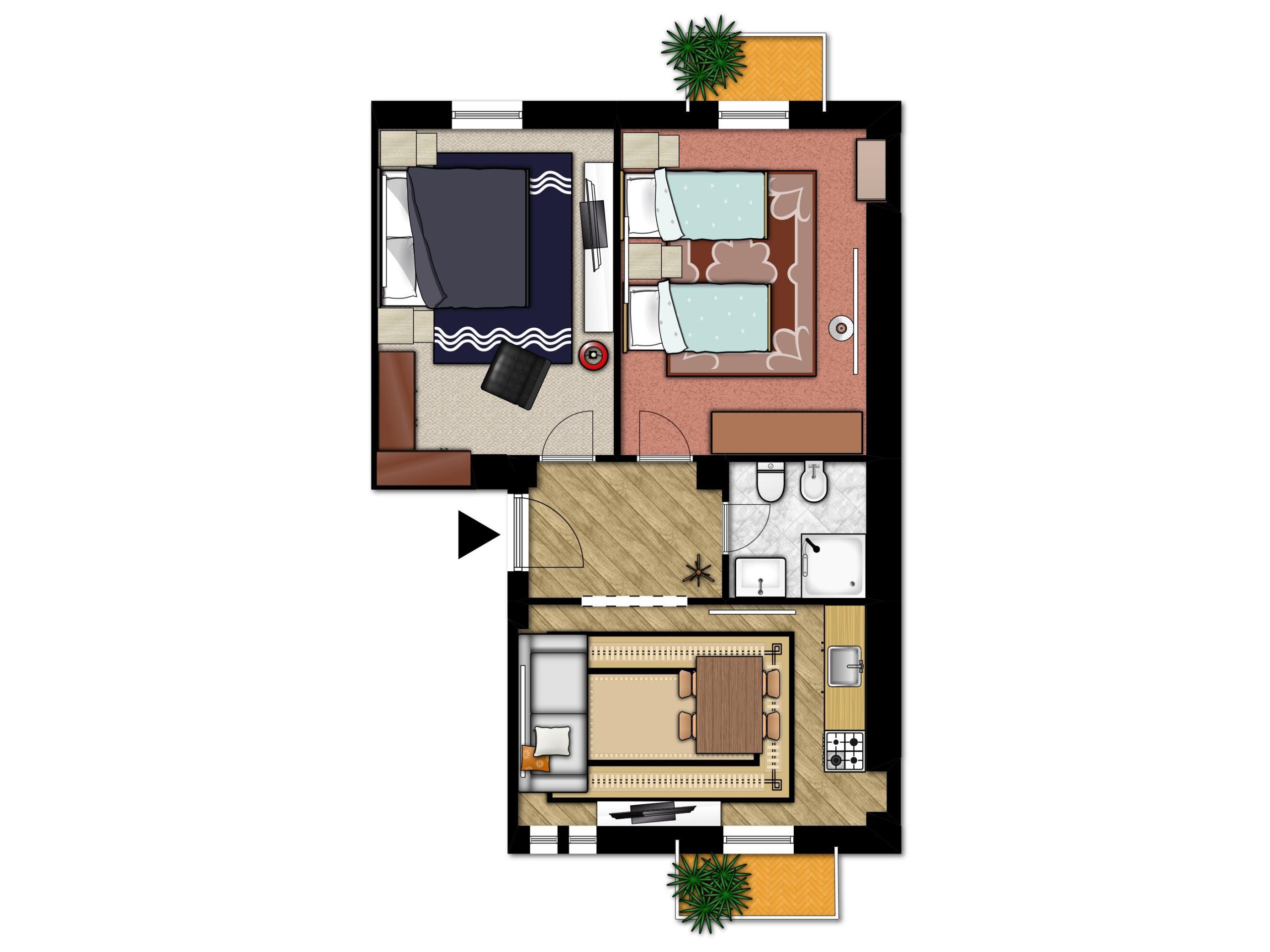 Planimetria appartamento tipo