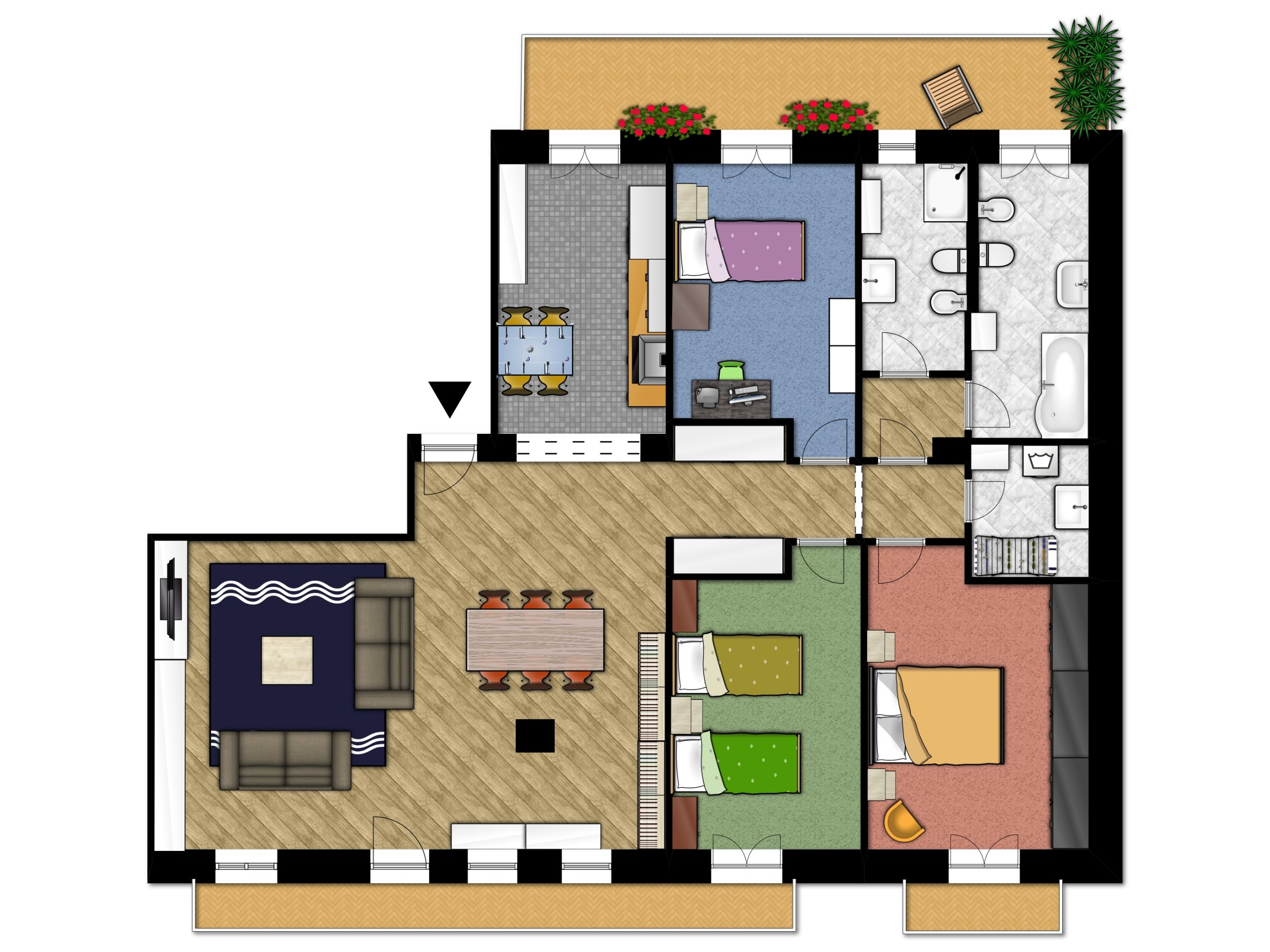 Planimetria appartamento tipo 1